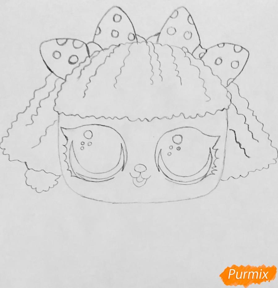 Рисуем милого щеночка породы пудель из мультфильма Lol pets - шаг 4