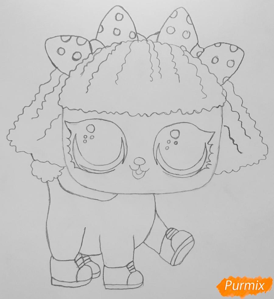 Рисуем милого щеночка породы пудель из мультфильма Lol pets - шаг 5