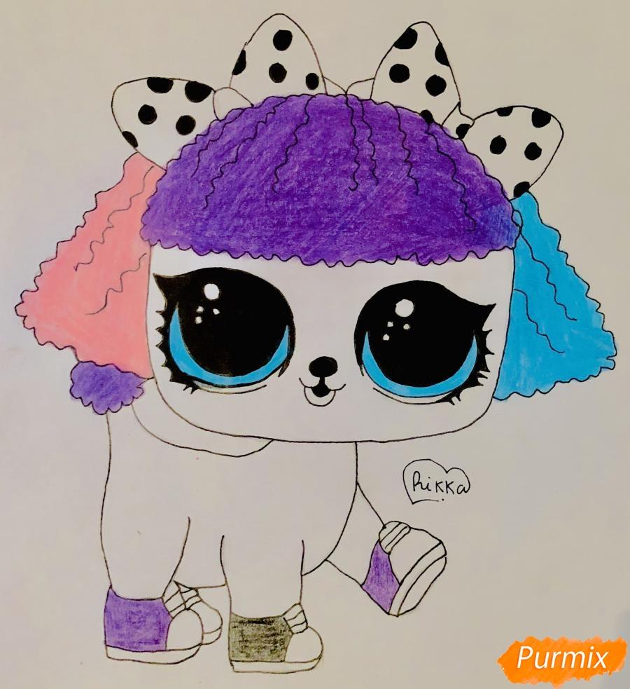 Рисуем милого щеночка породы пудель из мультфильма Lol pets - шаг 9