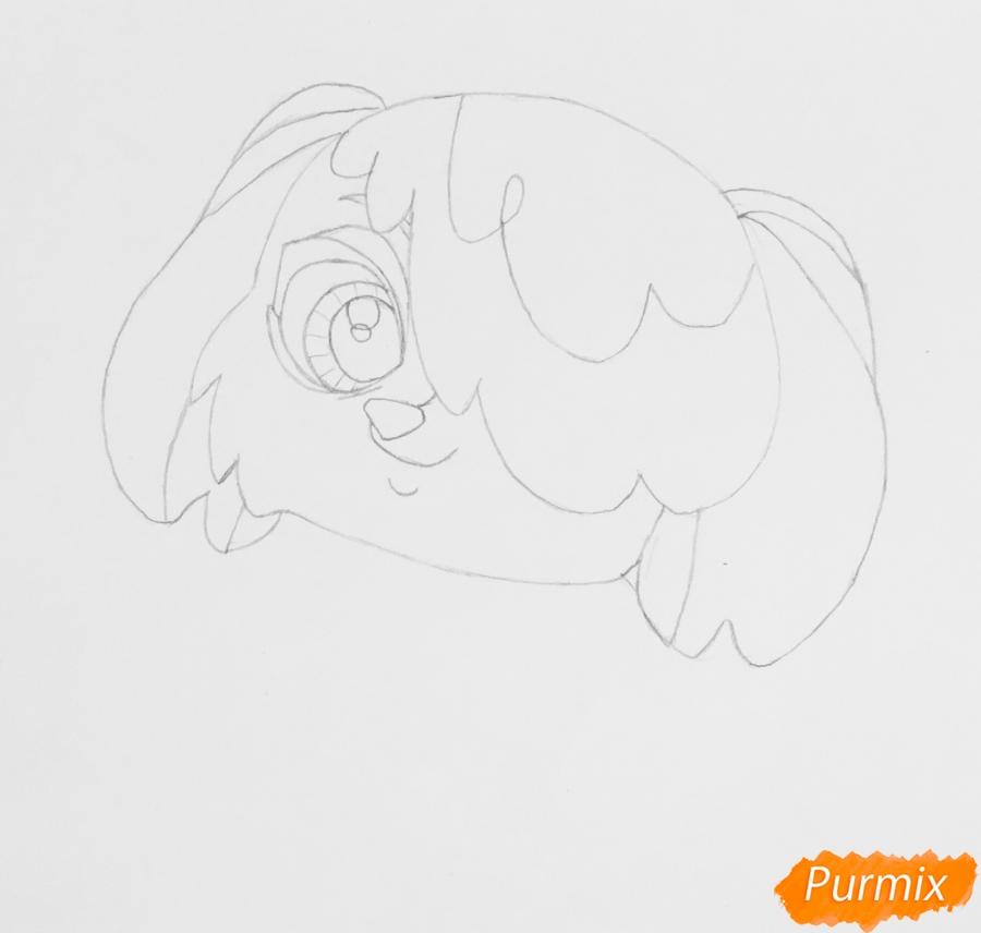 Рисуем собачку породы Бобтейл из мультфильма My Littlest Pet Shop - шаг 3