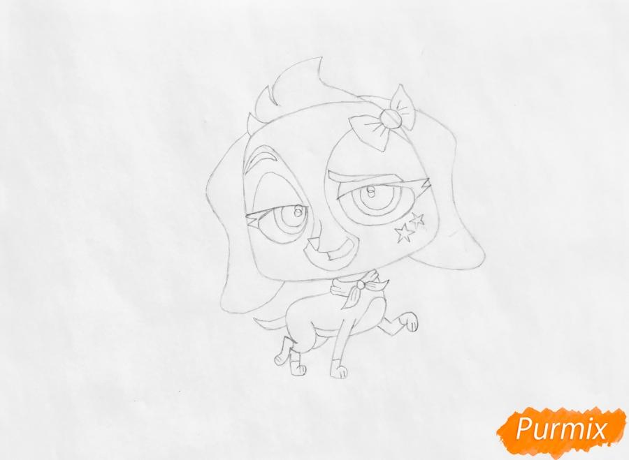 Рисуем собаку Хейди из мультфильма My Littlest Pet Shop - шаг 4
