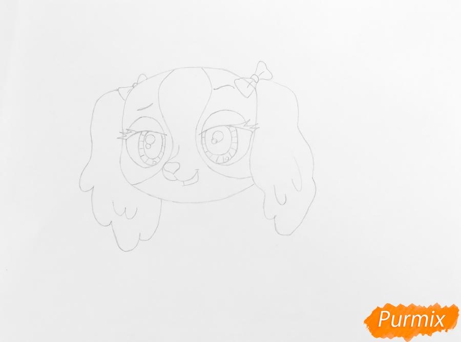 Рисуем собаку Нутмег Даш из мультфильма My Littlest Pet Shop - шаг 3