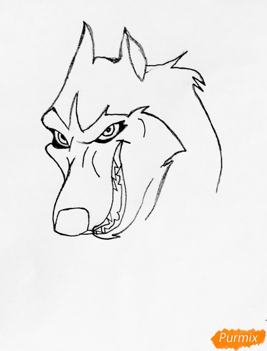Рисуем хаски Стила из мультфильма Балто - шаг 1