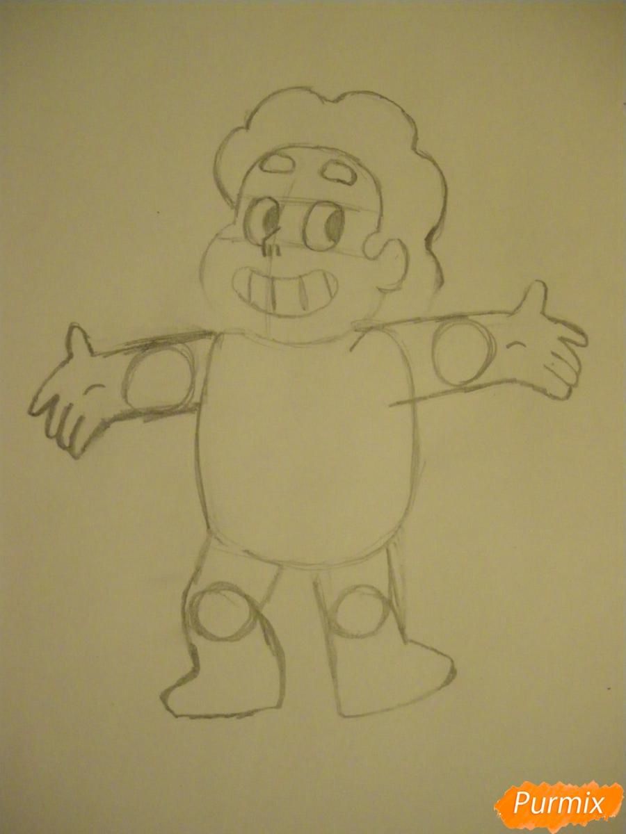 Рисуем Стивена Юниверса из Вселенная Стивена карандашами - шаг 4