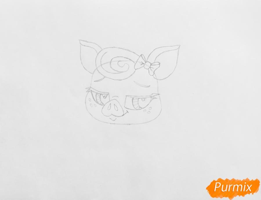Рисуем свинку Лолли Пинкингтон из мультфильма My Littlest Pet Shop - шаг 3