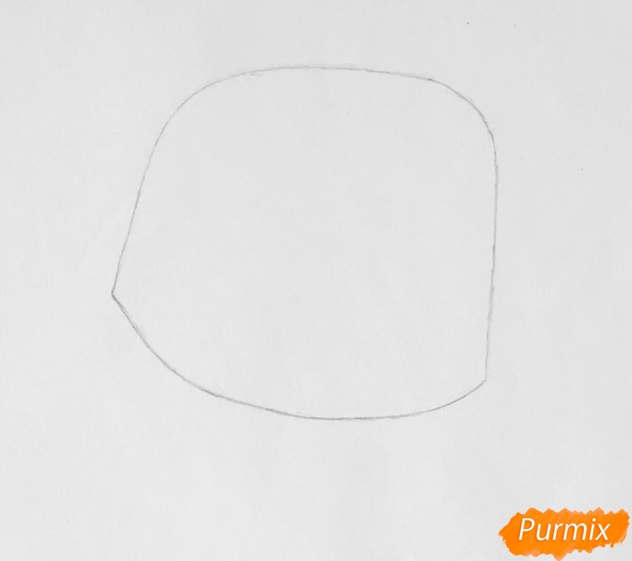 Рисуем таксу по имени Оскар из мультфильма My Littlest Pet Shop - шаг 1