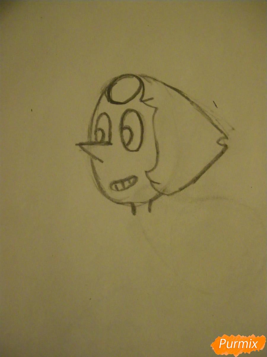 Рисуем Жемчуг из Вселенная Стивена карандашами - шаг 2