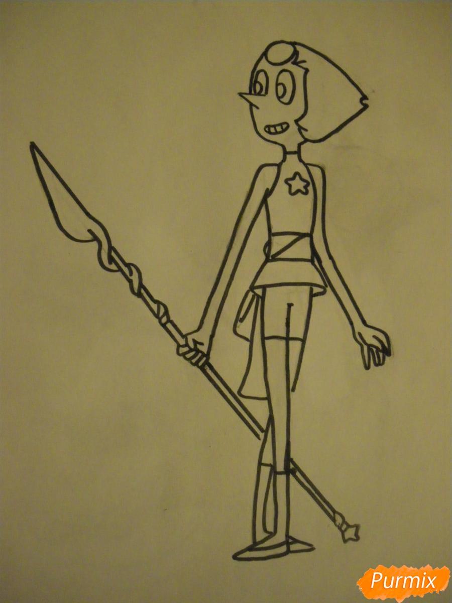 Рисуем Жемчуг из Вселенная Стивена карандашами - шаг 6