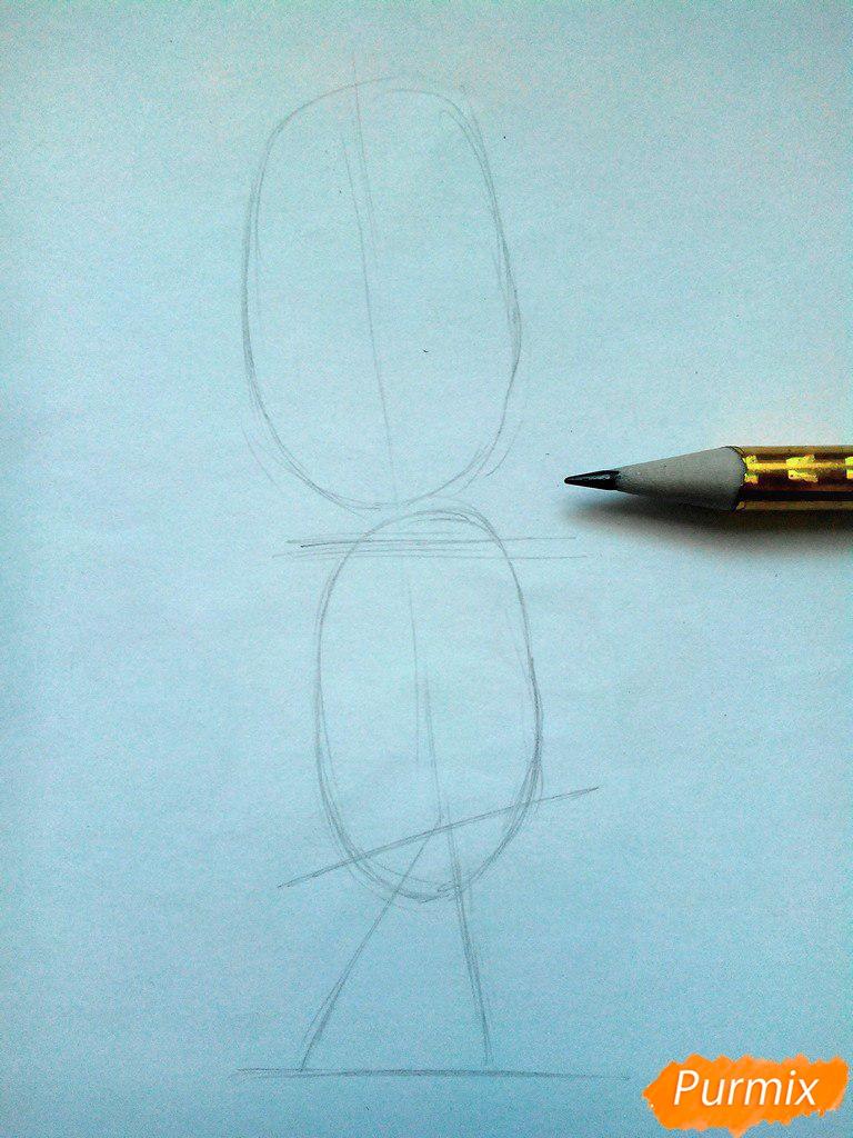 Рисуем Дружка из мультсереала Барбоскины цветными - шаг 1