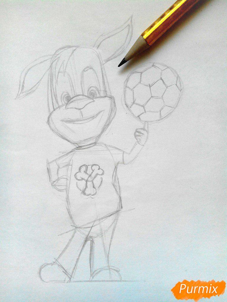 Рисуем Дружка из мультсереала Барбоскины цветными - шаг 5