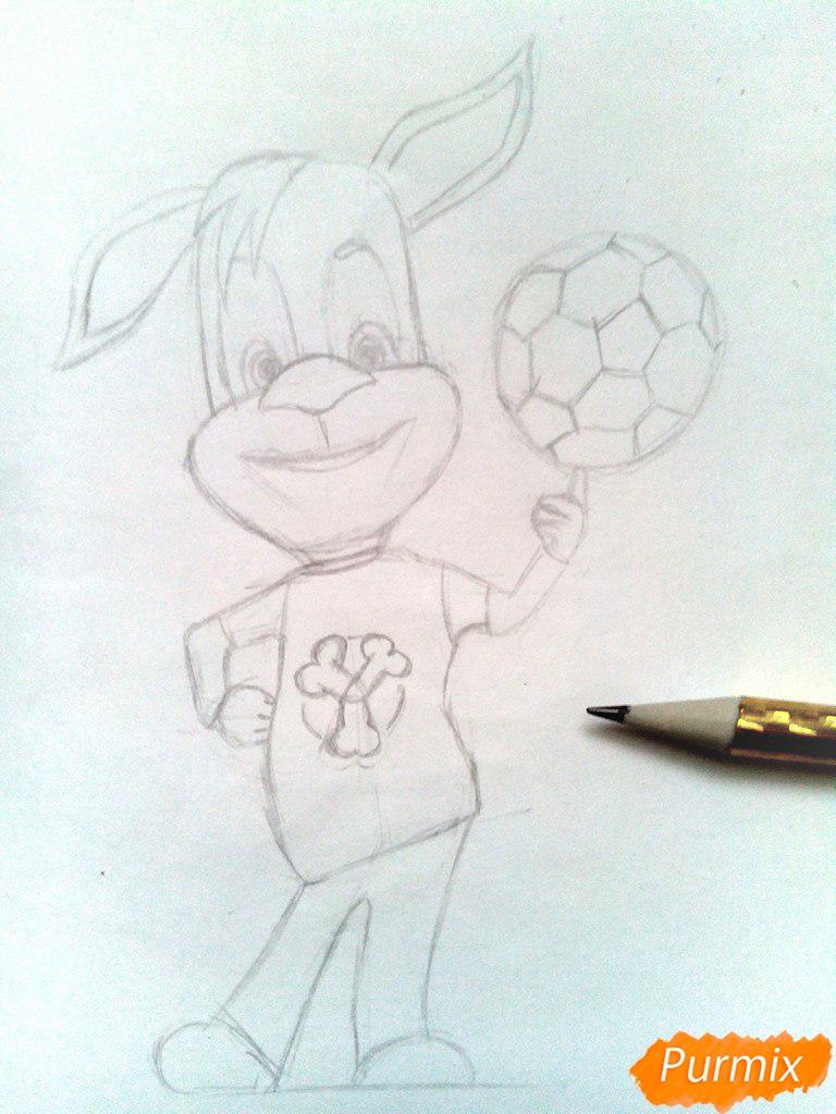 Рисуем Дружка из мультсереала Барбоскины цветными - шаг 6