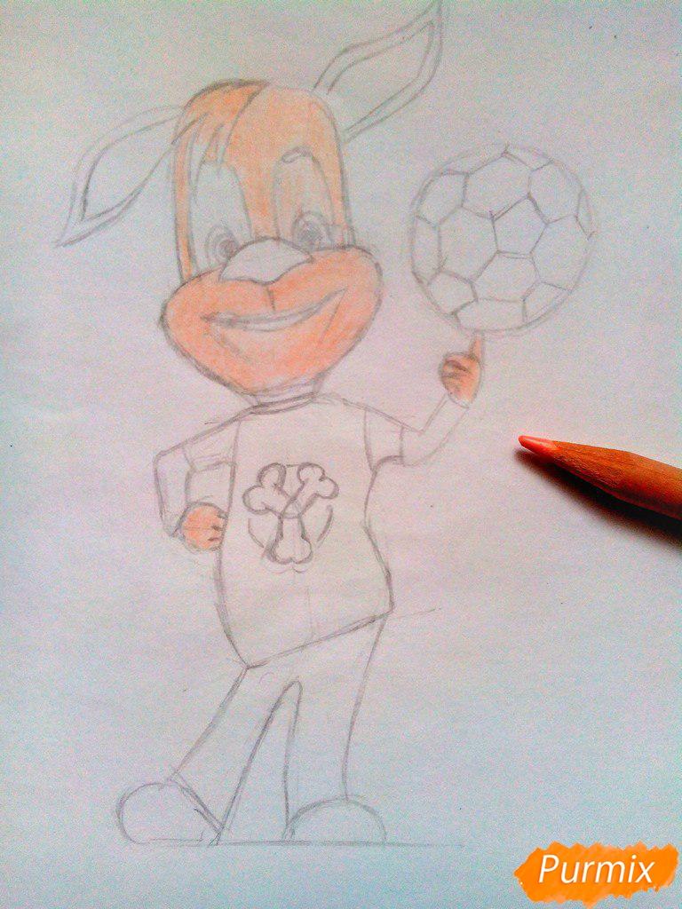 Рисуем Дружка из мультсереала Барбоскины цветными - шаг 7