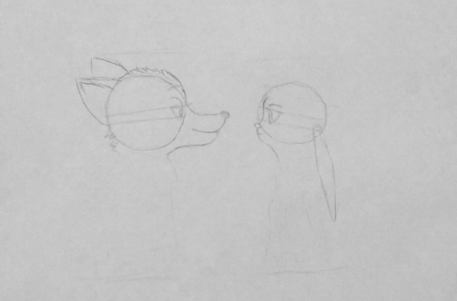 Рисуем и раскрасить Ника и Джуди из Зверополиса - шаг 3