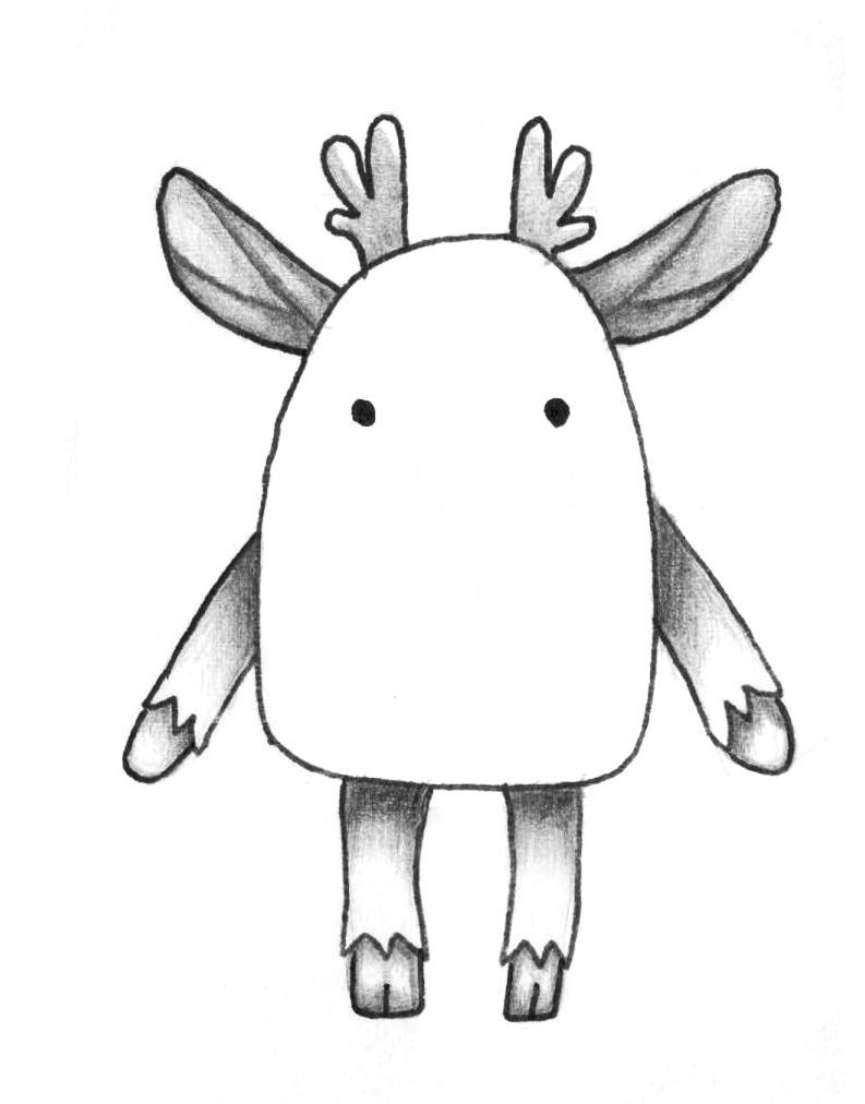 Рисуем мультяшного оленя - шаг 10