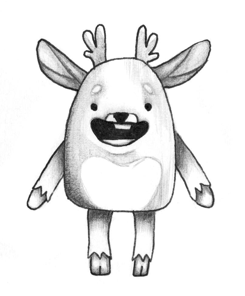 Рисуем мультяшного оленя - шаг 14