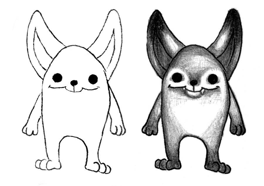 Рисуем мультяшного оленя - шаг 17