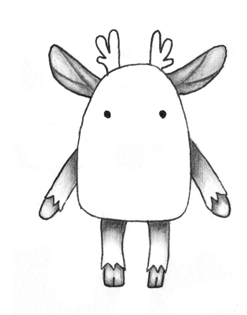 Рисуем мультяшного оленя - шаг 9