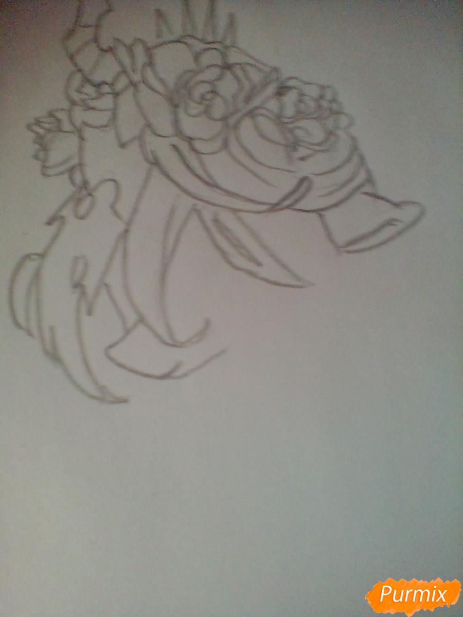 Рисуем Кризалис с цветами - шаг 2