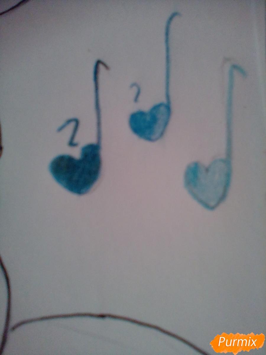 Рисуем Крошку Бель цветными карандашами - шаг 10