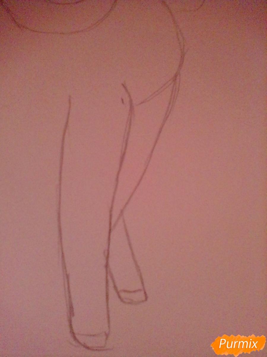 Рисуем Крошку Бель цветными карандашами - шаг 4