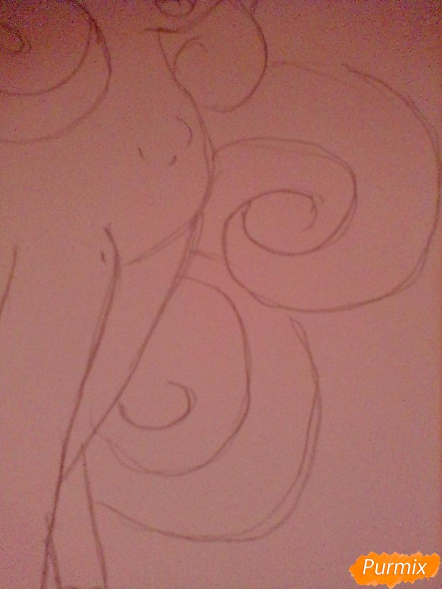 Рисуем Крошку Бель цветными карандашами - шаг 5