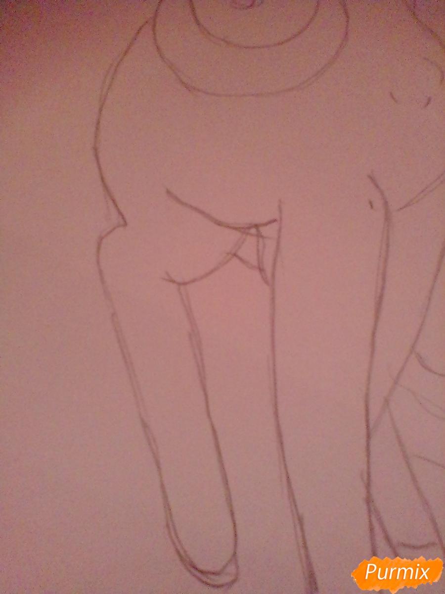 Рисуем Крошку Бель цветными карандашами - шаг 6