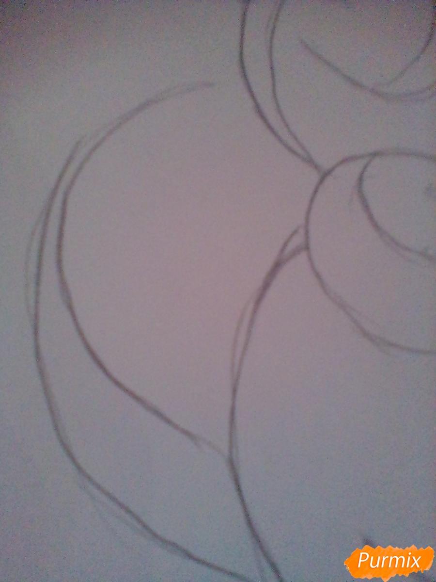 Рисуем Крошку Бель цветными карандашами - шаг 7