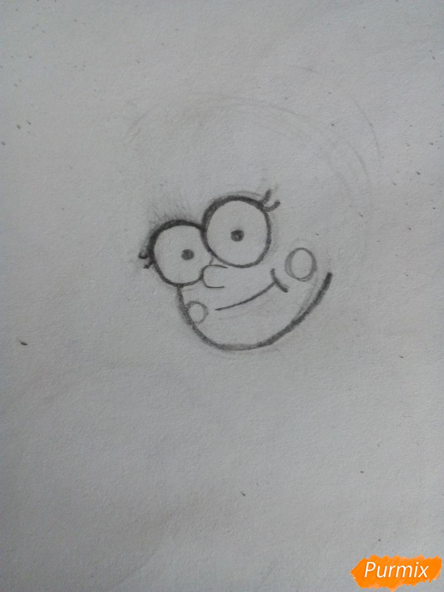Рисуем Мейбл Пайнс в полный рост - шаг 1