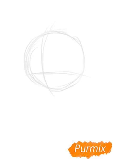 Рисуем портрет Флаттершай - шаг 1