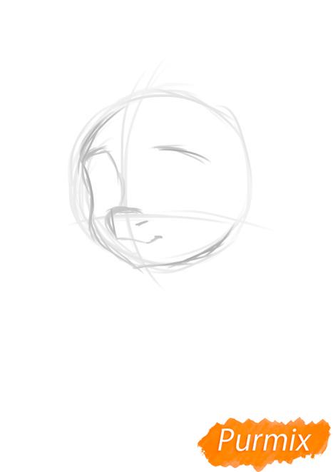 Рисуем портрет Флаттершай - шаг 2