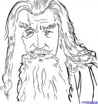 Фото  портрет Гэндальфа из Властелин Колец карандашом