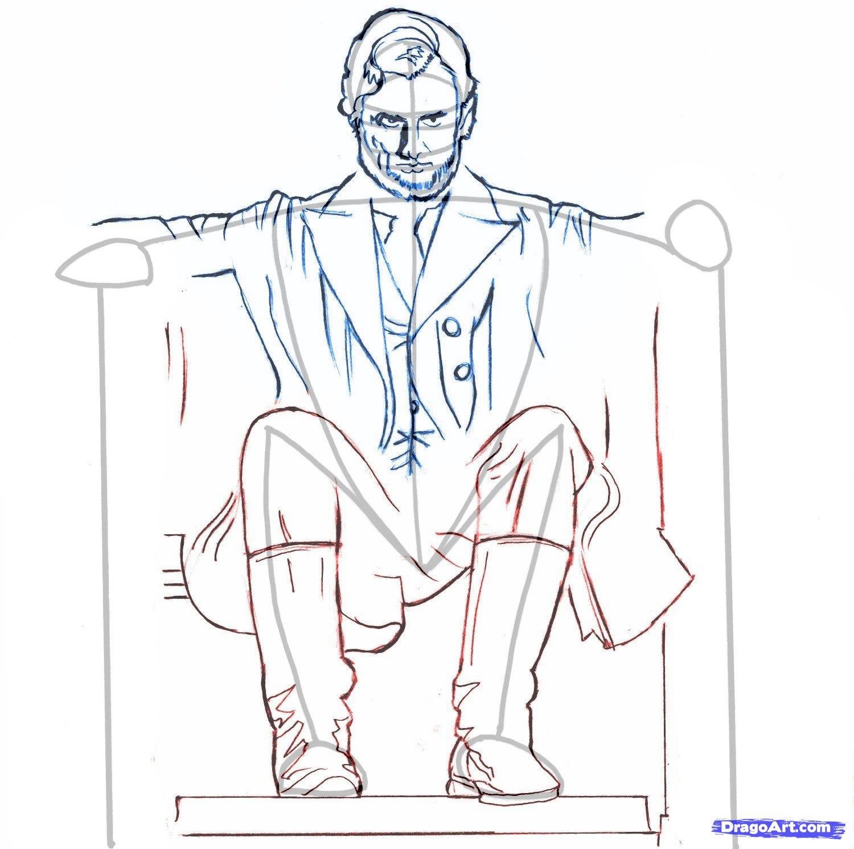 Рисуем  Авраам Линкольн: Охотник на вампиров