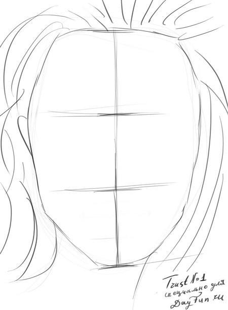 Рисуем портрет Анджелины Джоли - шаг 3