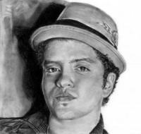 Фото портрет Бруно Марс карандашом