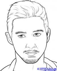 портрет Лабаф Шайа карандашом