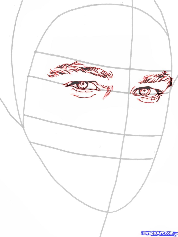 Рисуем портрет Леонардо Ди Каприо   для начинающих - шаг 5