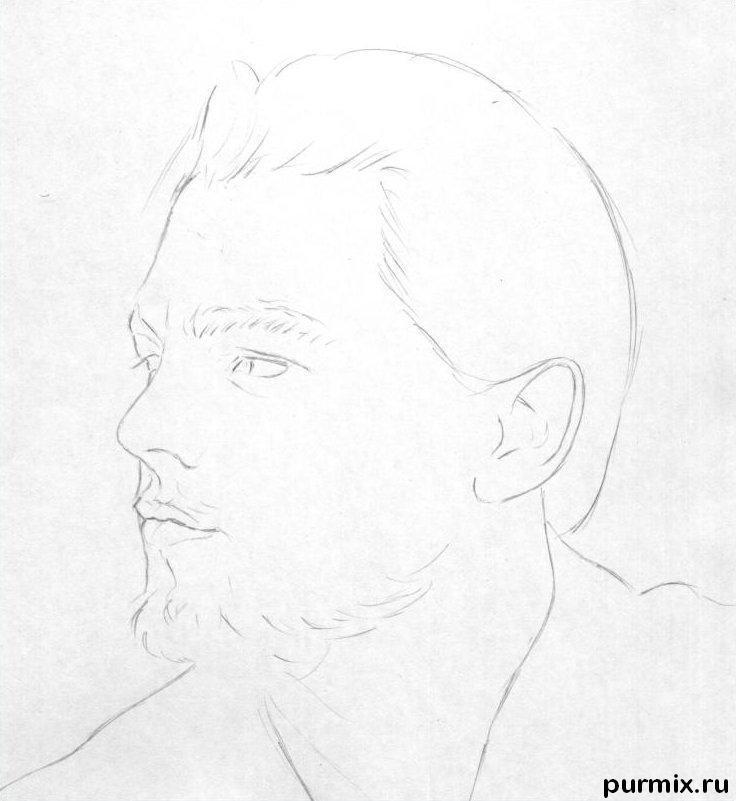 Рисуем портрет Леонардо ДиКаприо - шаг 1