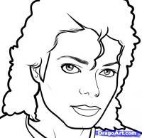 Фото портрет Майкла Джексона карандашом