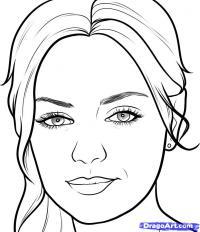 портрет Милы Кунис карандашом