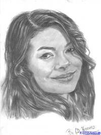 Фото портрет Миранды Тэйлор Косгроув карандашом