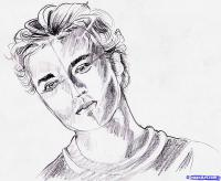 Фото портрет Роберта Паттинсона карандашом
