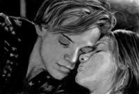 портрет Ромео и Джульетты карандашом