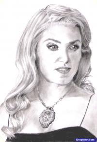 портрет Розали Каллен карандашом