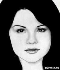 Фото портрет Селены Гомес простым карандашом