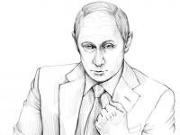 Фото Путина карандашом