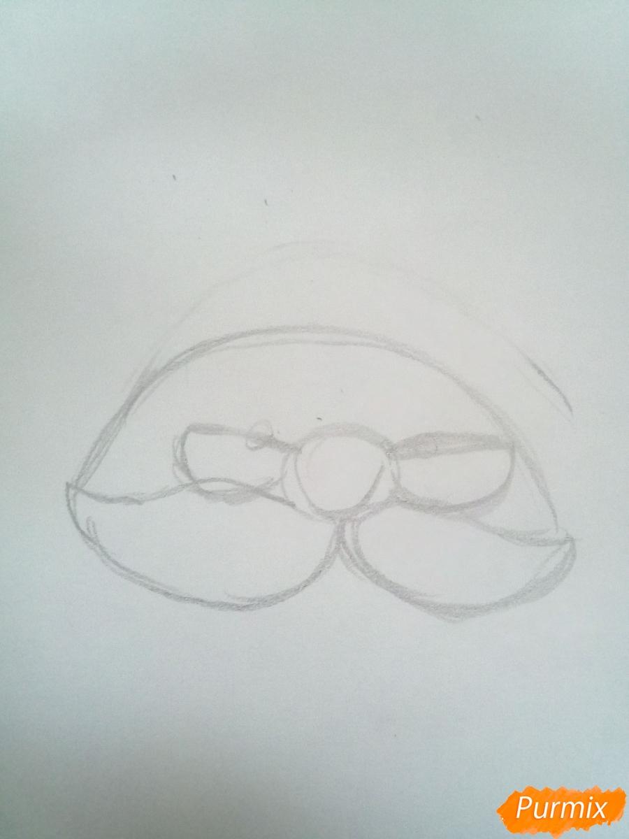 Голова милого Дедушки Мороза в очках - шаг 1