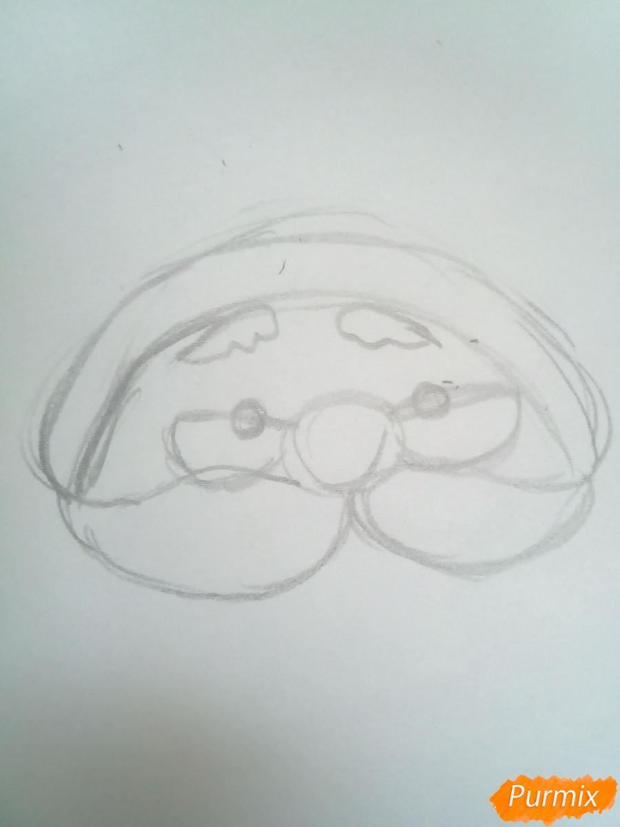 Голова милого Дедушки Мороза в очках - шаг 2