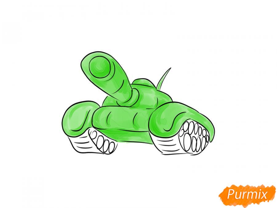 Как легко нарисовать танк ко Дню Победы - шаг 6