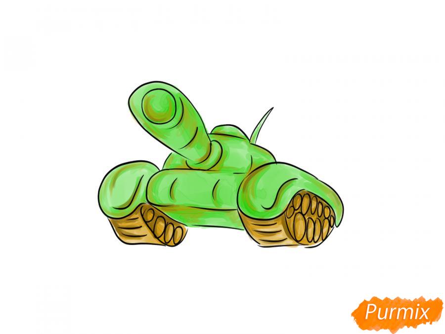Как легко нарисовать танк ко Дню Победы - шаг 8