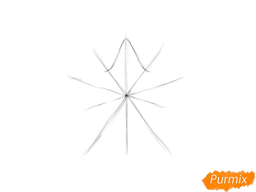 Как легко нарисовать звезду ко Дню победы детям - шаг 3